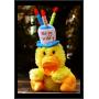 Birthday Card Cute Fluffy Toy Duck