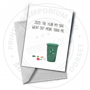 Wheelie Bin Greetings Card