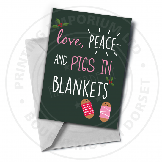 Pigs In Blankets Greetings Card
