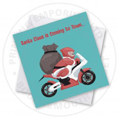 Santa Is Coming Greetings Card