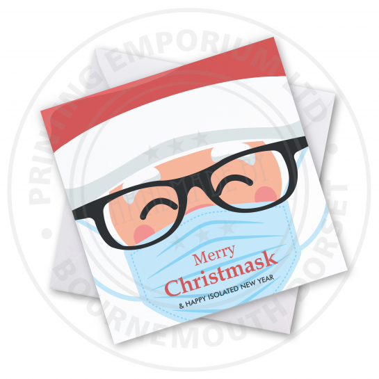 Merry Christmask Greetings Card