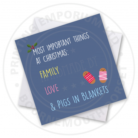 Pigs In Blankets Greetings Card