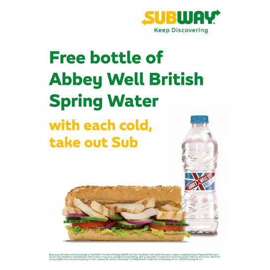 Free Bottled Water Poster