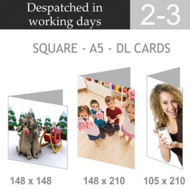 A5 DL & Square Greeting Cards